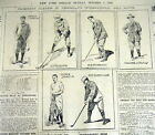 1899 newspaper Very Early GOLF TOURNAMENT at MORRIS COUNTY GOLF CLUB New Jersey