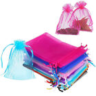 Kyпить 100x Sheer Organza Wedding Party Favor Gift Candy Bags Jewelry Pouches 3x4