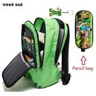 High Quality Schoolbag Green Backpack Unisex Canvas School Bag Kids Bags Childre