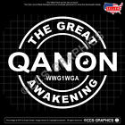 Qanon Great Awakening Decal - Sticker (4 Sizes Or Custom) - 10
