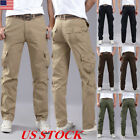 USA Mens Army Trousers Pants Combat Military Cargo Waist Work Casual Summer Camo