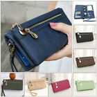 Girl Women Zipper PU Leather Clutch Wallet Long Card Holder Purse Handbag Bag
