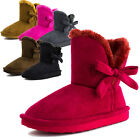 Kali Girls Ribbon Fur Faux Suede Boots Mini(Toddler 8 9 10/Youth 11 12 13 1 2 3)