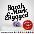 PERSONALISED Engagement Cake Topper Wedding Engaged Party Decoration ANY NAMES