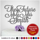 PERSONALISED Engagement Party Cake Topper Future Mr and Mrs ANY SURNAME Engaged