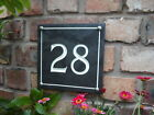 "LARGE HAND ENGRAVED SLATE HOUSE NUMBERS SIGNS (8""X8"")"