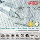 Bamboo Waterproof Mattress Protector  Soft Hypoallergenic Pad Bed Topper Cover image