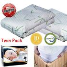 Mattress Protector Waterproof Bamboo Soft Hypoallergenic Fitted Pad Cover 5 size image