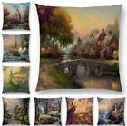 18'' Retro Country Sofa Decor Throw Pillow Case Cotton Linen Cushion Cover