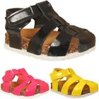 Girls Babies Infants Cut Out Casual Summer Platform Touch Strap Sandals Shoes