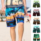 NEW Men Swim Trunk Coconut Tree Print Beach Shorts Quick-Dry Board Shorts GW