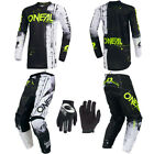 ONeal Element Shred Black motocross dirt bike gear - Jersey Pants Gloves combo