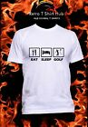 GOLF EAT SLEEP GOLF Retro GOLFER GOLFING Vintage Classic MEN'S & LADIES T SHIRT