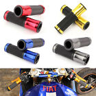 "Motorcycle Hand Grips Rubber Gel 7/8"" Handle Bar Custom For Honda GROM Suzuki US"