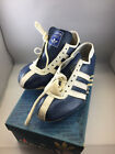 Vintage Adidas Avanti Leather Track Shoes Spikes with Box Blue-White HUGE STOCK!