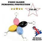 Personal Rape Attack Panic Safety Security Alarm Police Approved 140 db Key Ring