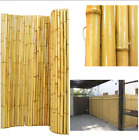 Natural Rolled Bamboo Fence Gates Doors Roof Accent Shade Outdoor Fencing