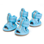 New Dog Summer Shoes Breathable Mesh Puppy Shoes Dog Sandals Shoes