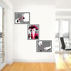 The Modern lady Cosmetic Art set of 3 Painting Home & office Unframed freeship