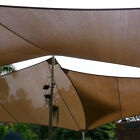 Square Rectangle Brown Curve Sun Shade Sail Home Garden Pool Patio Cover Canopy