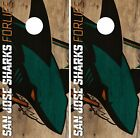 San Jose Sharks Cornhole Skin Wrap NHL Hockey Vintage Vinyl Decal Sticker DR110 $39.99 USD on eBay