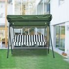 Durable Patio Garden Chairs 3 Seater Seat Swing Chair Swinging Hammock Bench