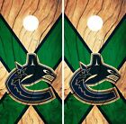 Vancouver Canucks  Cornhole Skin Wrap NHL Hockey Wood Design Vinyl Decal DR112 $39.99 USD on eBay