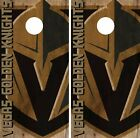 Vegas Golden Knights Cornhole Skin Wrap NHL Vintage Wood Design Vinyl DR119 $39.99 USD on eBay