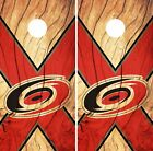 Carolina Hurricanes Cornhole Skin Wrap NHL Hockey Custom Wood Design Vinyl DR122 $39.99 USD on eBay