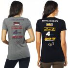 Fox Racing The Super Fox V-Neck Womens Tees Ladies Short Sleeve Tops T-Shirts