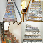 13x Brick Staircase Stair Riser Stickers Wall Decals Home Decor Self-adhesive