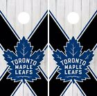 Toronto Maple Leafs Cornhole Skin Wrap NHL Hockey Wood Design Vinyl DR192 $39.99 USD on eBay