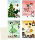 Retro 50's fashion Advent calendar cards traditional german design 16.5 x 11.5cm