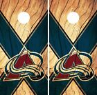 Colorado Avalanche Cornhole Skin Wrap NHL Hockey Custom Wood Design Vinyl DR203 $39.99 USD on eBay