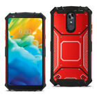 For LG Stylo 4 Heavy Duty Dual-Layer Rugged Armor Case with Metal Back Cover