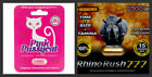 Sexual Enhancer Supplement Couples Combo, Pink Pussycat and Rush 777 - 1, 5, 10