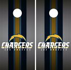 Los Angeles Chargers Cornhole Skin Wrap NFL Football Flag Luxury Decal Logo DR43 $59.99 USD on eBay