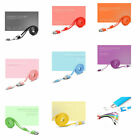 Charge Cable 1 Meter Multiple Color Lightning Micro USB Wire Cord For iPhone