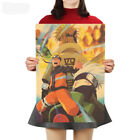 New Classic Cartoon Naruto Kraft Paper Cafe Retro Poster Decorative Painting