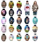 2018 Unisex Couples 3D Galaxy Print Sweatshirt Jumper Hooded Coat Pullover Top for sale  Shipping to Ireland
