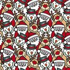 Printed Polyester Cotton Fabric - Christmas Characters - 875