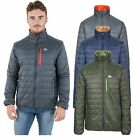 Trespass Norman Mens Lightweight Padded Jacket in Olive Navy & Grey