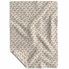 Throw Blanket Roses Fall Thanksgiving Floral Watercolor Illu