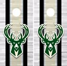 Milwaukee Bucks Cornhole Skin Wrap NBA Basketball Team Color Vinyl Sticker DR300 on eBay