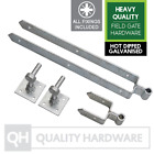"Double Strap Field Gate Hinge Set with adjustable Hooks Galvanised 12"" 18"" 24"""