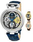 Stuhrling 889 Men's Luxury  AM/PM Sun Moon Dual Time Skeleton Automatic Watch