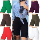 Cotton Spandex Biker Shorts LOT 1 OR 6 Bermuda Womens Plus Size HI-WAIST S-3XL