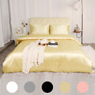 3 Piece Home Bedding Satin Silk Duvet Cover Set for Comforter Blanket Ultra Soft image
