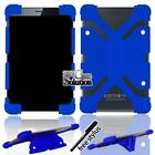 """Bumper Silicone Stand Cover Case For Various 7"""" COBY Kyros TABLET + Stylus"""