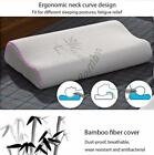 Ergonomic Curve Bamboo Fiber Slow Rebound Health Care Memory Foam Neck Pillow GQ